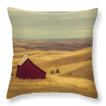Pillbox Barn Throw Pillow