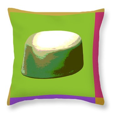 Throw Pillow featuring the digital art Pillbox Hat by Jean luc Comperat