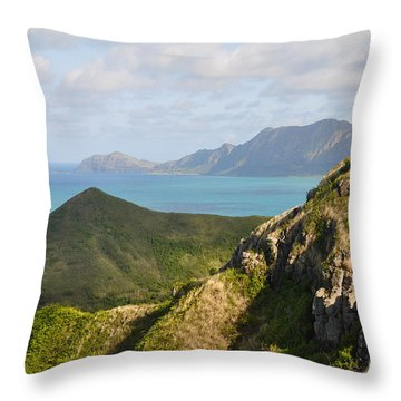 Throw Pillow featuring the photograph Pillbox Hike by Gina Savage
