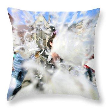 Pillow Fight Throw Pillow by Ana Mireles