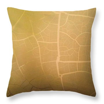 Pillow Pattern Amber Leaf/crackle Throw Pillow