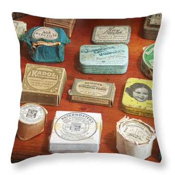 Pills, Powders And Ointments Throw Pillow