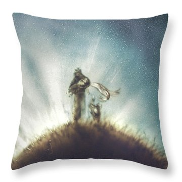 Pilot, Little Prince And Fox Throw Pillow