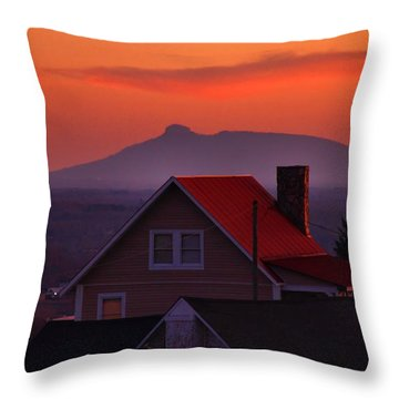 Pilot Sunset Overlook Throw Pillow by Kathryn Meyer