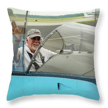 Pilot Vic Vicari Throw Pillow