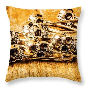 Pin Head Skeleton Art Throw Pillow