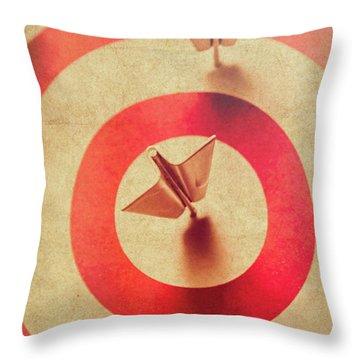 Pin Plane Darts Hitting Goals Throw Pillow