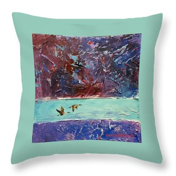 Throw Pillow featuring the painting Pin Tails by David  Maynard