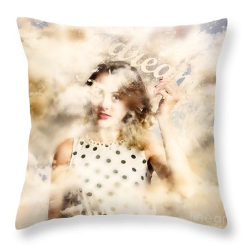 Throw Pillow featuring the photograph Pin-up Your Dreams by Jorgo Photography - Wall Art Gallery