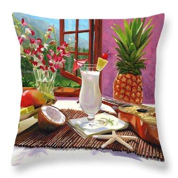 Pina Colada Throw Pillow by Steve Simon