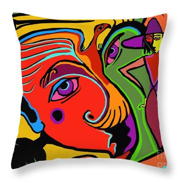Pinching The Bird Throw Pillow