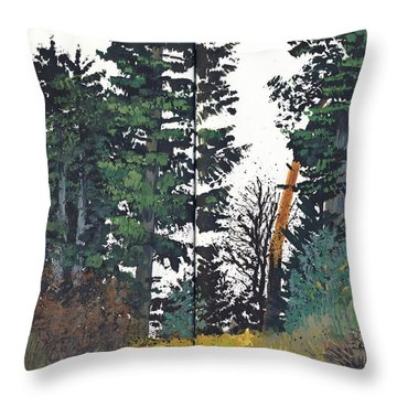 Pine And Fir Tree Forest Throw Pillow