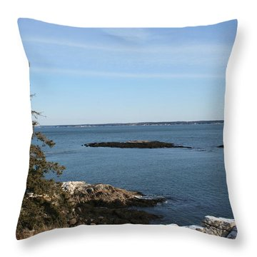 Pine Coast Throw Pillow