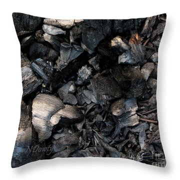 Pine Cone Cinders Throw Pillow