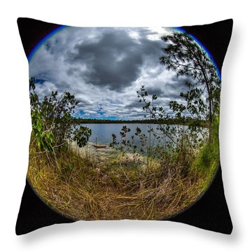 Pine Glades Lake 18 Throw Pillow