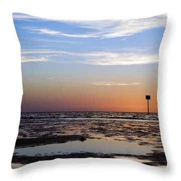 Pine Island Sunset Throw Pillow by Beverly Stapleton
