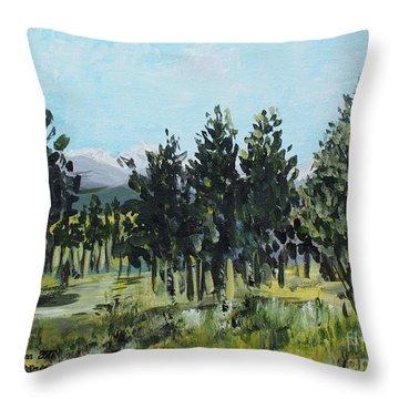 Pine Landscape No. 4 Throw Pillow