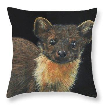 Pine Marten Throw Pillow
