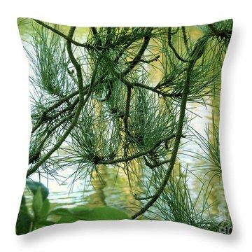 Pine Needles Patchwork Throw Pillow