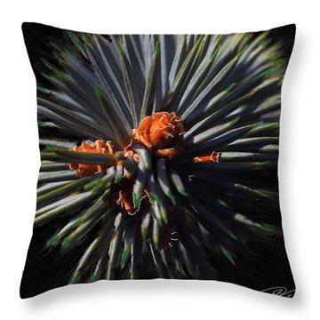 Pine Rose Throw Pillow