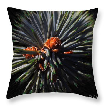 Pine Rose Throw Pillow