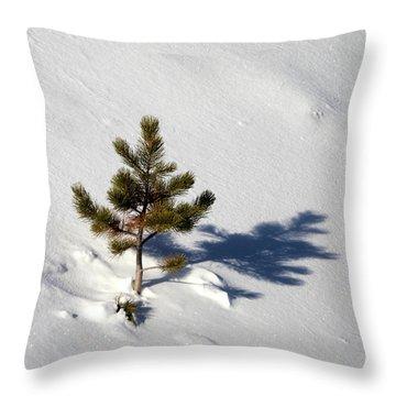 Pine Shadow Throw Pillow