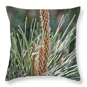 Pine Shoots Throw Pillow