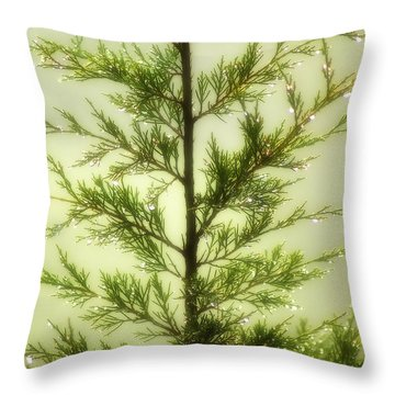Throw Pillow featuring the photograph Pine Shower by Brian Wallace