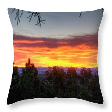 Pine Sunrise Throw Pillow