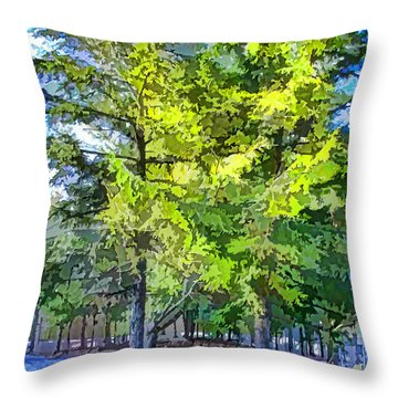 Pine Tree 1 Throw Pillow by Lanjee Chee