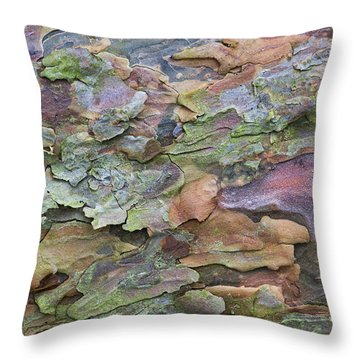 Pine Tree Bark Throw Pillow