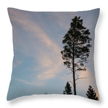Pine Tree Silhouette Throw Pillow
