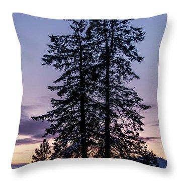Pine Tree Silhouette    Throw Pillow
