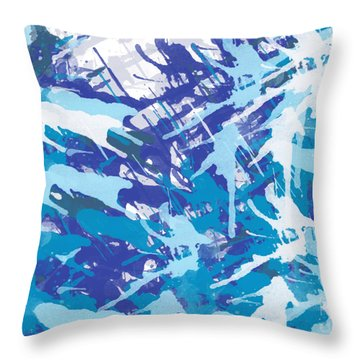 Pine Trees Throw Pillow by Trilby Cole