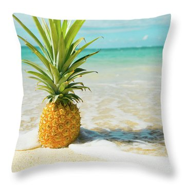 Throw Pillow featuring the photograph Pineapple Beach by Sharon Mau
