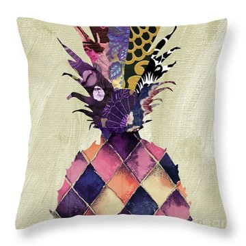 Pineapple Brocade II Throw Pillow by Mindy Sommers