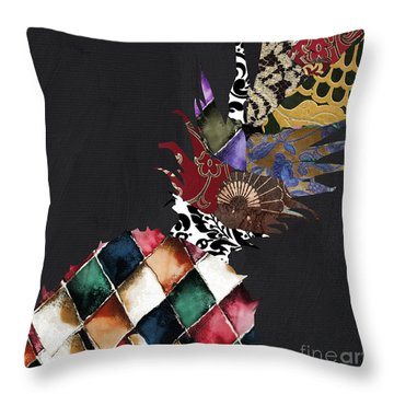 Pineapple Brocade Throw Pillow by Mindy Sommers