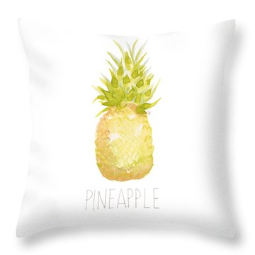 Throw Pillow featuring the painting Pineapple by Cindy Garber Iverson