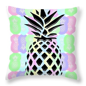 Pineapple Collage Throw Pillow by Liesl Marelli