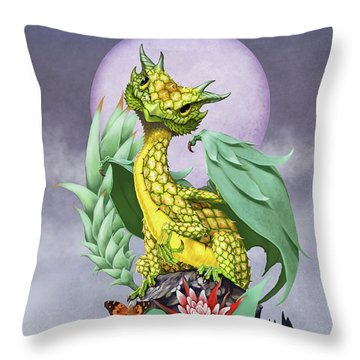 Pineapple Dragon Throw Pillow