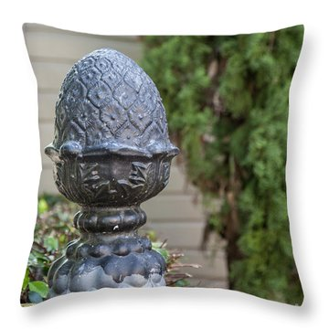 Throw Pillow featuring the photograph Pineapple Finial by Heather Green