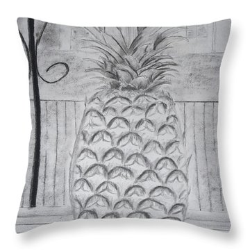 Pineapple In Window Throw Pillow