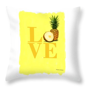 Pineapple Throw Pillow by Mark Rogan