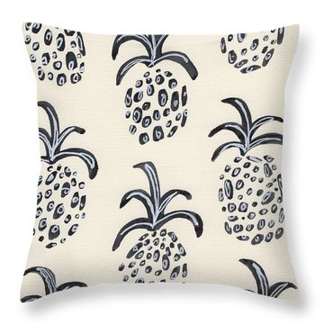 Pineapple Print Throw Pillow by Anne Seay