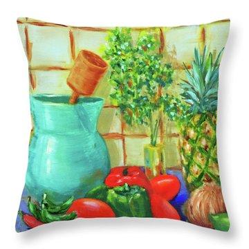 Pineapple Salsa Throw Pillow