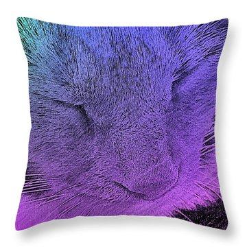 Pineapple Sleeping 1 Throw Pillow