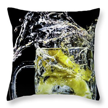 Throw Pillow featuring the photograph Pineapple Splash by Ray Shiu