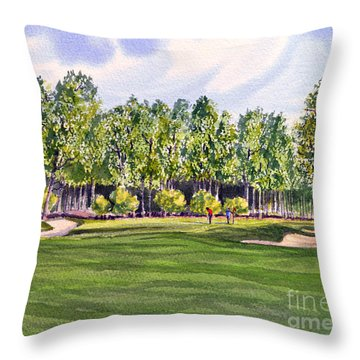 Pinehurst Golf Course 17th Hole Throw Pillow by Bill Holkham