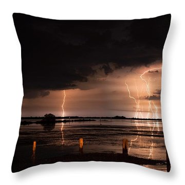 Pineland Nights Throw Pillow