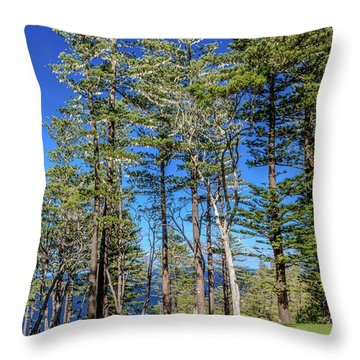 Throw Pillow featuring the photograph Pines by Werner Padarin